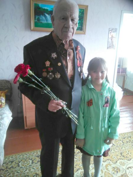 Дети поздравили ветеранов