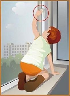 Внимание! Открытое окно или москитная сетка - опасность для детей!